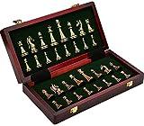 Profesional Tablero de ajedrez de Calidad Ajedrez de tablero de ajedrez, ajedrez de madera con tablero de ajedrez plegable, piezas de ajedrez, caja de almacenamiento, juego de ajedrez juego de mesa de