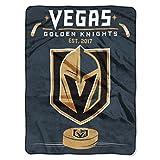 The Northwest Company NHL Vegas Golden Knights 'Inspired' Raschel Throw Blanket, 60' x 80' , Black