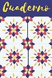 Cuaderno: Cuaderno de notas de composición, diario forrado con diseño de patrón colorido abstracto para listas de la escuela, la universidad, la oficina y la compra