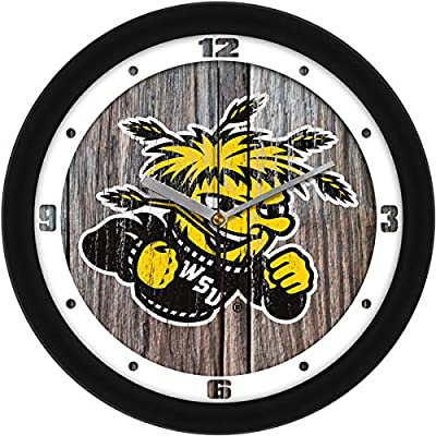SunTime Wichita State Shockers - Weathered Wood Wall Clock
