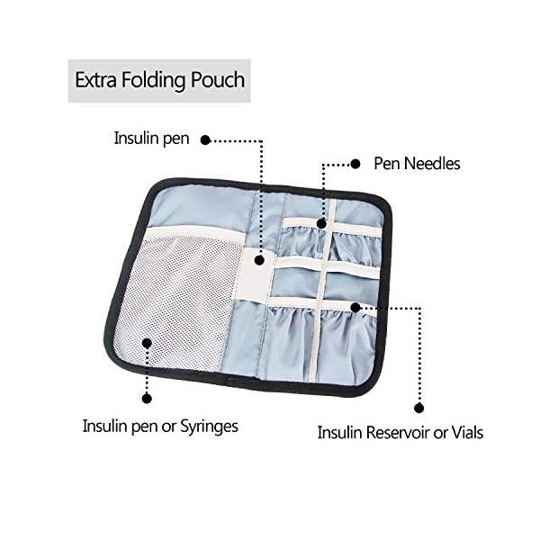buy  Luxja Insulin Travel Case, Double Layer Insulin ... Diabetes Care