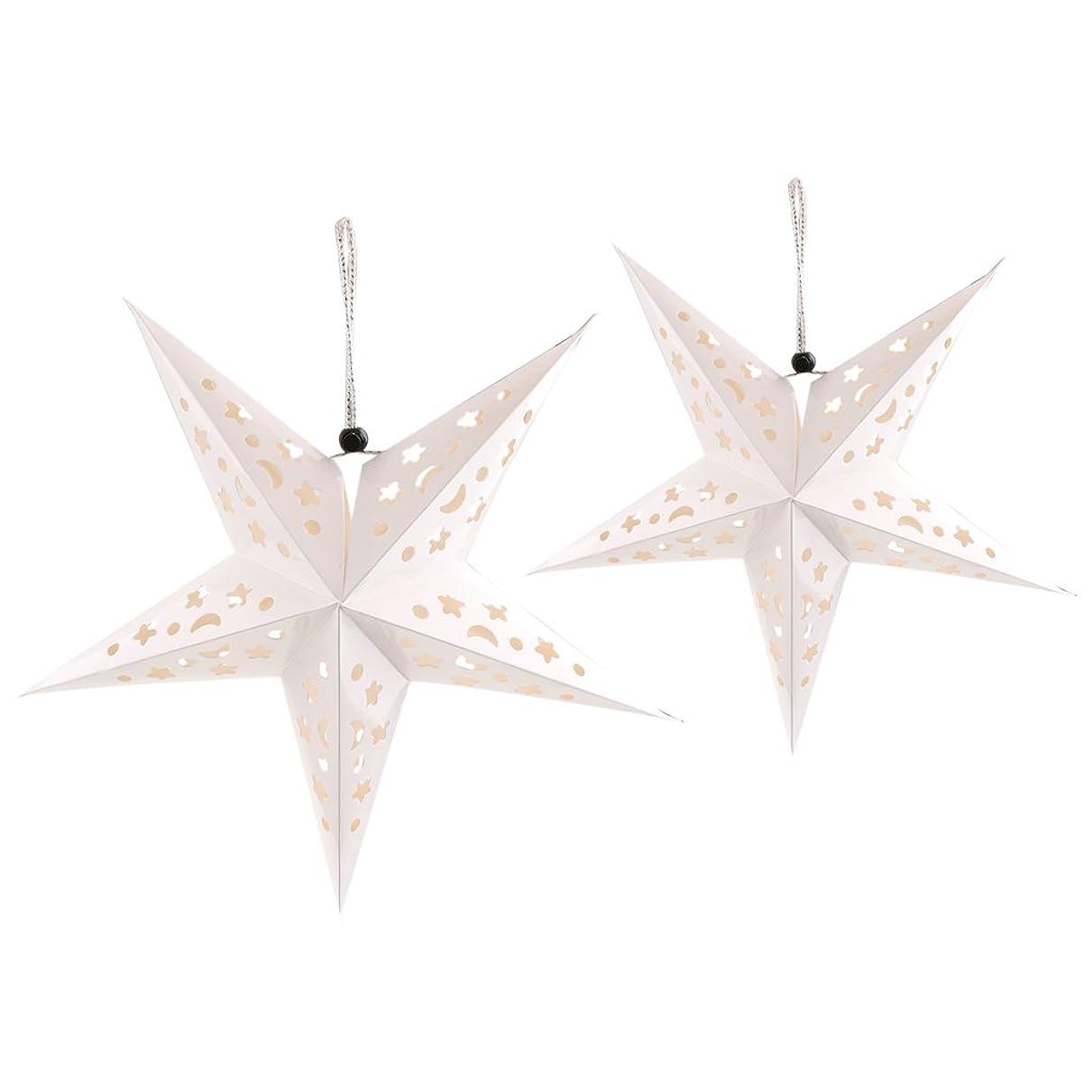 ご注意カタログ保証する2個 ペーパースター 星型 紙製 クリスマスツリー 飾り 装飾