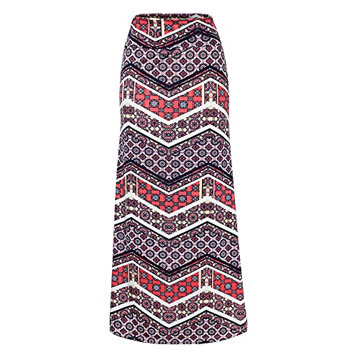 Hiseng Ladies/Womens Bohemian E-Girl 90S Falda Midi de Cintura Alta Tie-Dye, Y2K Vintage Slim Fit Falda Gótica de línea (Forma Redonda,M)