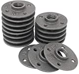 Brooklyn Pipe 20 Pack 1/2 Floor Flanges 4 Bolts 1/2 Inch Threaded Pipe Flange Iron Metal Flange Industrial Pipe Decor Iron Flange Pipe Fittings
