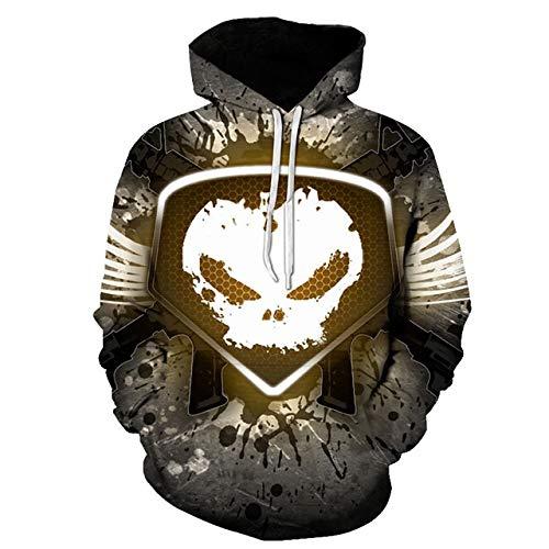 Hcxbb-16 Unisexe Sweats à Capuche 3D -Skull Sweat Hoodies -Young Vrac Casual Sportswear Printemps Manteau d'automne vêtements de la Rue (Color : A, Size : XL)