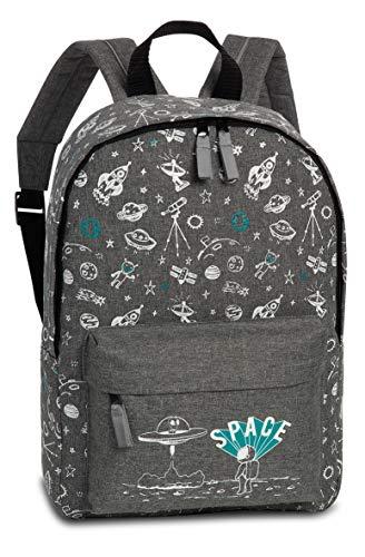 Fabrizio Kindergartenrucksack für Jungen mit Astronaut und Raketen Motiven – SPACE Kinderrucksack für 3-6 Jahre alte Abenteurer, Kindergarten und Kita – 36cm x 25cm x 9cm