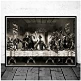 Freddy Jason Chucky Halloween Horror Movie Character The Last Supper Art Painting Poster Wall...
