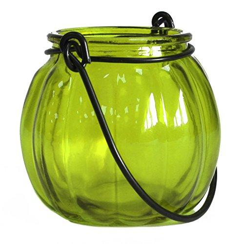 Linterna de calabaza en cristal reciclado–verde