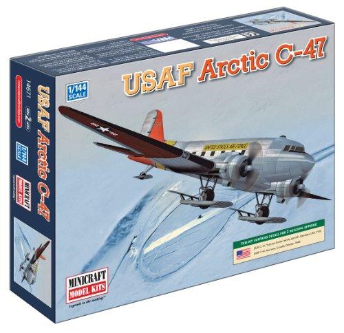 Minicraft Models Dempsey Designs Morceau modèles Echelle 1 : 144 cm U.S.A.F C-47 Version Artic modèle Kit