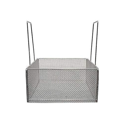 Marlin Steel Stainless Steel Mesh Basket with Handles, Electropolished (18'L x 18'W x 9'H)