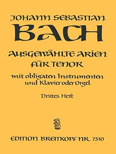 Ausgewählte Arien für Tenor mit Instrumenten und Klavier Heft 3 (EB 7310)