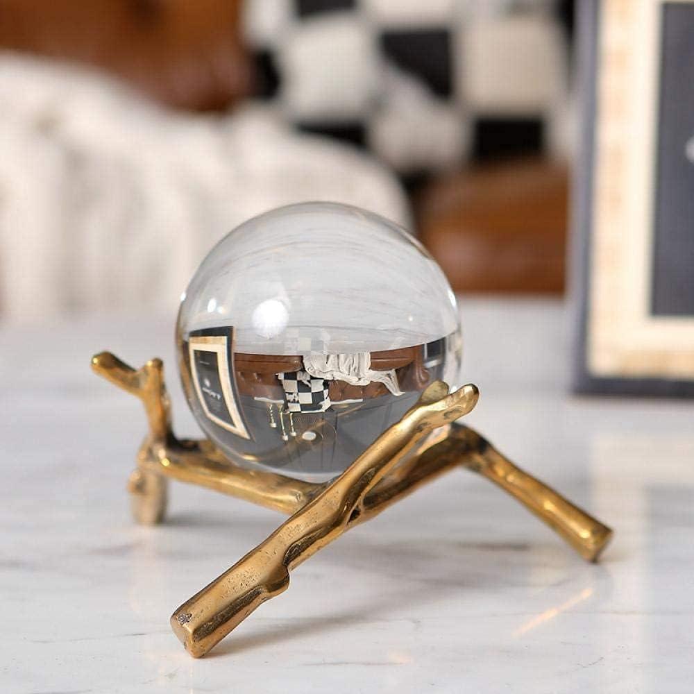 WAWJLO Pretty Crystal Glass Portland Mall Max 88% OFF Ball Ornaments Natural Desktop Home