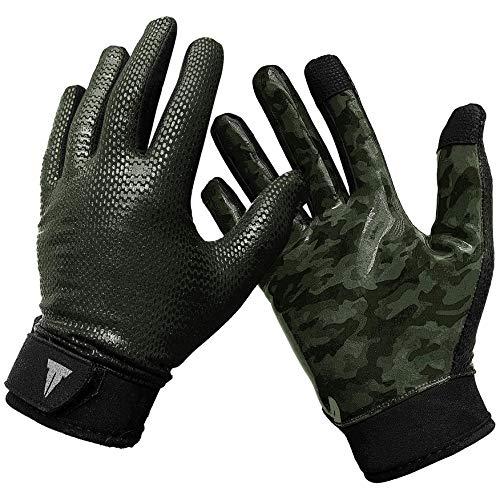 Throwdown Stealth Training Gloves (Green Camouflage, M)
