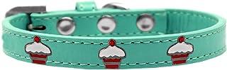 طوق بحليات الكب كيك الأحمر للكلاب من ميراج بت برودكتس 631-28 AQ14، مقاس 35.56 سم، لون أكوا