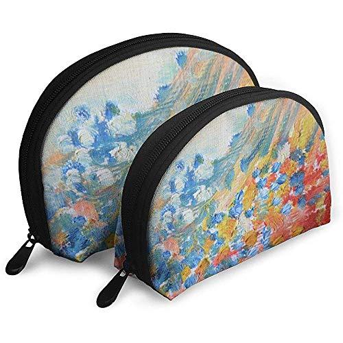 Ölfarbe Farbe Malen Bunte Tragbare Taschen Make-up Tasche Kulturbeutel Multifunktions Tragbare Reisetaschen Kleine Make-up Clutch