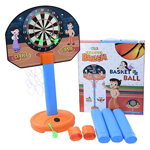 TRUVENDOR ENTERPRISES Basketball Set for Kids with Adjustable Stand for Kids Playing (Multi Colour)
