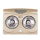Radiateur de Salle de Bain Mural de Style aristocratique doré avec Ampoule Infrarouge IC étanche, Pas Besoin d'installer, Protection Hors Tension 220v