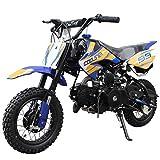 110cc Dirt Bike Pit Bike Mini Gas Dirt Bike Kids Youth Dirt Bike Pit Bike 110cc Gas Dirt Pitbike ,Blue