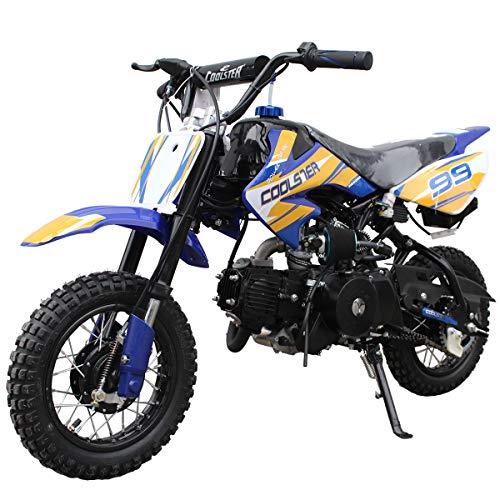 X-PRO 110cc Dirt Bike Pit Bike Mini Gas Dirt Bike Kids Youth Dirt Bike Pit Bike 110cc Gas Dirt Pitbike ,Blue