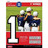 SEI 9-104  8-Inch Iron-On Team Pack Athletic Number Transfers, White, 5-Sheet
