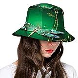Sombrero de poliéster, estilo asiático oriental, belleza y tratamiento de la piel, tema con dama y bambú, sombrero de ala ancha para mujeres y hombres y adolescentes