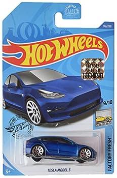 DieCast Hotwheels [Tesla Model 3] 2020 Factory Sealed Sticker/ Ship in Protector case