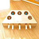 MiaoKa Wooden Cat Whack-a-mole Toy,Funny Cute Cat Hamster Toys