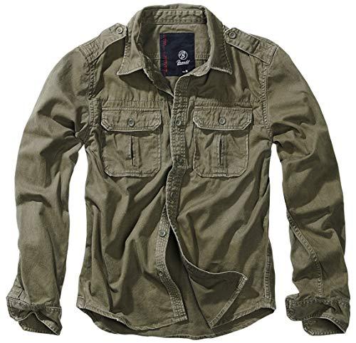 Brandit Vintage Shirt Longsleeve Oliv XL