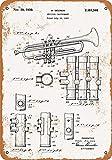 Letrero de pared con diseño de trompeta Selmer de 1939 de 20 x 30 cm