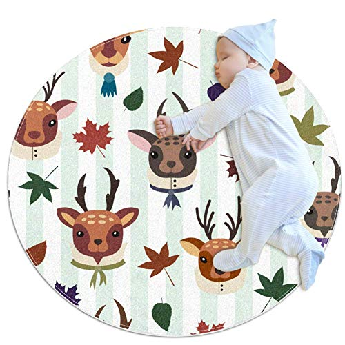 Buy Bargain Maple and Deers Baby Game mat Cotton Floor Gym - Non Toxic, Non Slip and Washable,31.5x3...