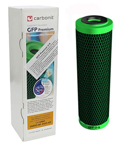 Carbonit Wasserfilter GFP Premium U-9 Filterpatrone 0,3 µ mit mehr Aktivkohle