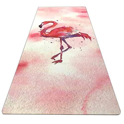 N / A 183cm * 61cm * 3.5mm Fabirc de Gamuza de Goma Natural Protección Antideslizante para el Medio Ambiente Perder Peso Estera de Ejercicio Fitness Yoga Mat 183x61x0.35CM