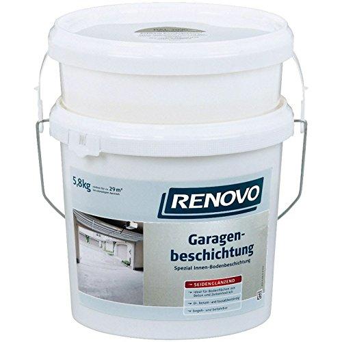 5,8 Kg Garagen-Boden-Beschichtung 2-komponentig RAL7030 steingrau Epoxidharz Garagenbeschichtung