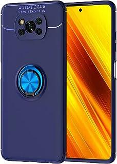 Dalchen Compatible with ケース Xiaomi Poco X3 Pro、360度回転 リング スタンド機能保護シェルを、車載ホルダー対応、TPU 柔軟性 軽量カバー、耐衝撃 指紋防止 滑り止 落下防止 全面保護ケース、2*...