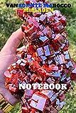 vanadinite marocco Mibladen notebook: vanadinite marocco Mibladen, Midelt very beautiful hexagonal crystals , perfectly developed very pronounced orange-red