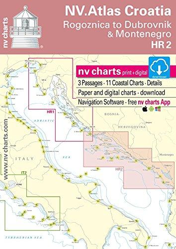 NV.Atlas Croatia HR 2 - Vodice to Dubrovnik & Montenegro   Seekarte Kroatien Papier & Digital [ NV Verlag / nv charts]