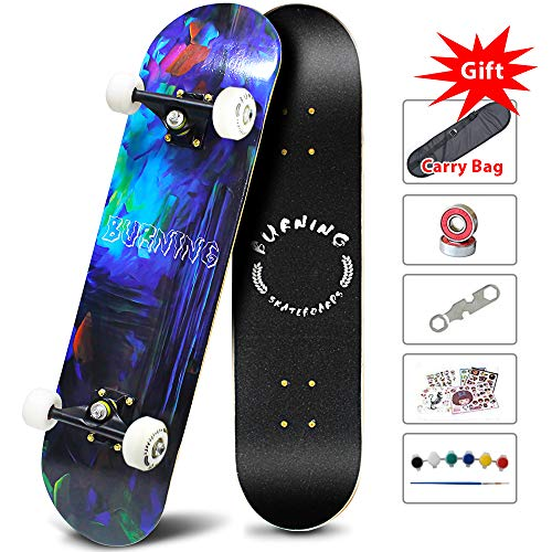 Easy_Way Complete Skateboards Standard Skateboards for Beginner Starter Boys Girls Youths  31#039#039x 8#039#039Canadian Maple Pro Cruiser Standard Skate Boards Longboards Skateboards