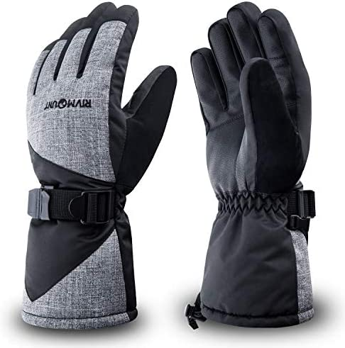 RIVMOUNT Winter Ski Gloves Men Women Waterproof 3M Thinsulate Gloves Keep Warm in Cold Weather product image