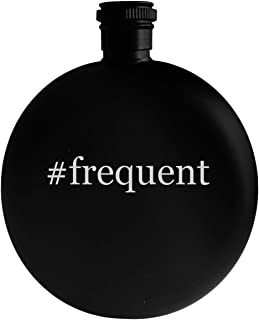 #frequent - 5oz Hashtag Round Alcohol Drinking Flask, Black