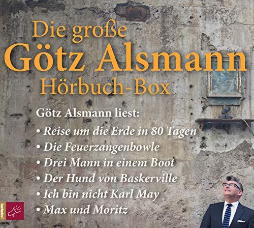 Die große Götz Alsmann Hörbuch-Box: Drei Mann in einem Boot / Die Feuerzangenbowle / Der Hund von Baskerville / Ich bin nicht Karl May / Max und Moritz / Reise um die Erde in 80 Tagen