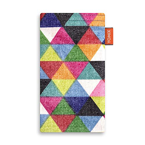 YOMIX Finn mit Strahlenschutz Handytasche Tasche für HTC U11 Dual-SIM aus beschichteter Baumwolle mit Microfaserinnenfutter | Hülle mit Reinigungsfunktion | Made in Germany