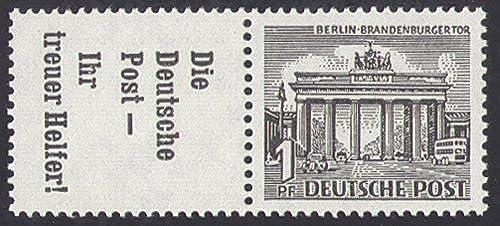 Goldhahn Berlin Zusammendruck W39 postfrisch  Bauten 1952 (R7+1) Briefmarken für Sammler