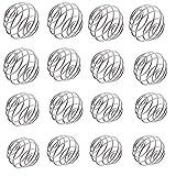 Osuter 15PCS Bolas Mezcladoras, Bola Agitador de Acero Inoxidable Blender Ball para Vaso Mezclador Bebida(Grande/Mediano/Pequeño)