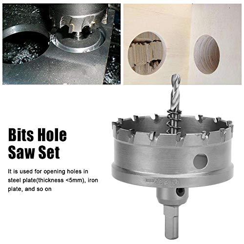 1 stks Carbide Tip Gatenzaag Boor Set Voor Metaallegering Staal (80mm)