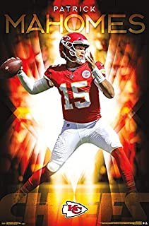 NFL POSTER Patrick MAHOMES - Kansas City Chiefs 22 inches x 34 inches - New