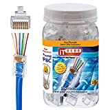 Gold plated ez rj45 cat6 connector by itbebe 100 pieces