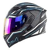 NBSMN Casco De Motocicleta, Casco De Motocicleta De Flip Adulto, con Doble Visera Solar, Certificación ECE/Dot, Utilizada para El Casco De Carreras De Motos De Moto Crui C-S