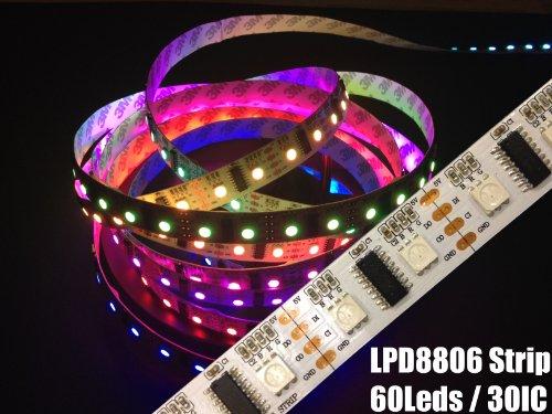 LPD8806 Streifen Strip LED RGB Stripe IP20 60 LEDs/m - 30 ICs/m - Meterware