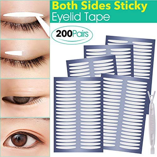Bigger Round Charming Eyes, Ultra Invisible Two-sided Sticky Double Eyelid Tape Stickers, Instant Eyelid Lift Without Surgery, Perfect for Heavy Saggy, Hooded, Droopy, Uneven, Mono-eyelids