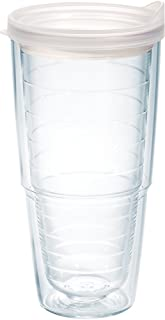 Tervis 1078622 Clear & Colorful Insulated Tumbler with Frosted Lid 24 oz Tritan Clear